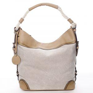 Velká atraktivní kabelka přes rameno béžová – MARIA C Mimis béžová