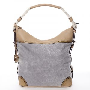 Velká atraktivní kabelka přes rameno šedá – MARIA C Mimis šedá