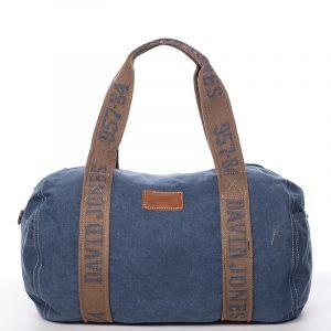 Dámská látková modrá kabelka přes rameno – David Jones Molly modrá
