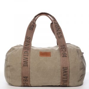 Dámská látková khaki kabelka přes rameno – David Jones Molly Khaki