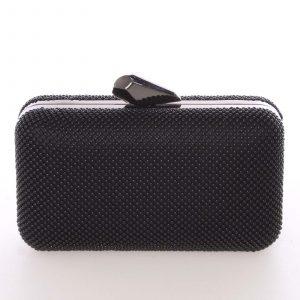 Módní dámské perleťové psaníčko černé – Delami V437 černá