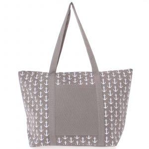 Luxusní šedá plážová taška – Delami Spirance šedá
