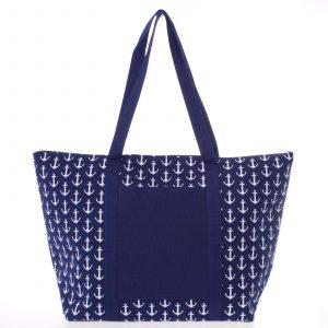 Luxusní modrá plážová taška – Delami Spirance modrá