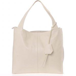 Elegantní béžová kožená kabelka přes rameno – ItalY Nyse béžová