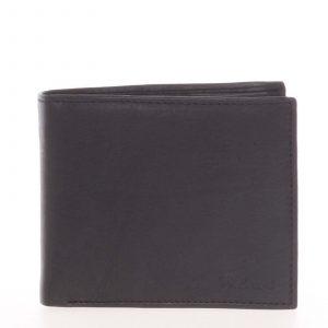 Pánská kožená volná černá peněženka – Delami 8222 černá