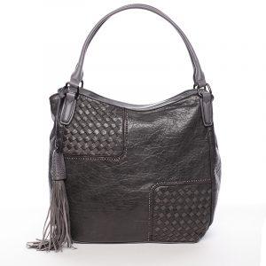 Trendy dámská měkká kabelka šedá – MARIA C Kadence šedá