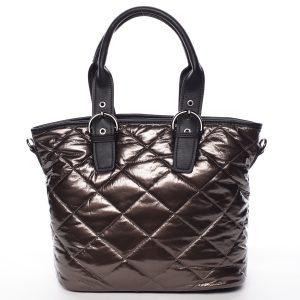 Jedinečná elegantní dámská kabelka bronzová – MARIA C Briley hnědá