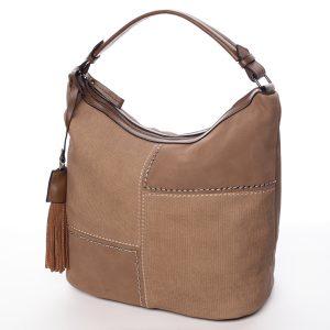 Moderní dámská kabelka světle hnědá – MARIA C Aliza hnědá
