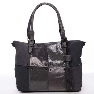 Jedinečná větší dámská kabelka šedá – MARIA C Riley šedá