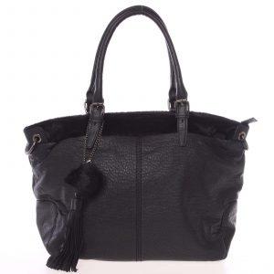 Módní měkká dámská kabelka černá – MARIA C Paige černá