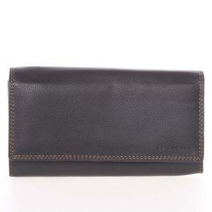 Dámská černá kožená prošívaná peněženka – SendiDesign Philyra černá
