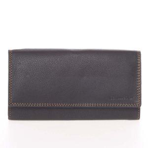 Dámská černá kožená prošívaná peněženka – SendiDesign Phoibe černá