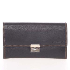 Luxusní velká kožená prošívaná kasírtaška černá – SendiDesign Basilea černá