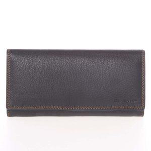 Velká dámská černá kožená prošívaná peněženka – SendiDesign Phylis černá