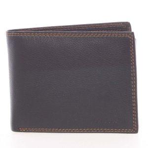Kvalitní pánská kožená černá volná peněženka – SendiDesign Sabastian černá