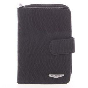 Originální dámská dvoudílná černá peněženka – HEXAGONA Reezzi černá
