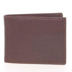 Kvalitní volná pánská kožená peněženka hnědá – SendiDesign Poseidon hnědá