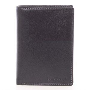 Volná pánská kožená peněženka černá – SendiDesign Priam černá