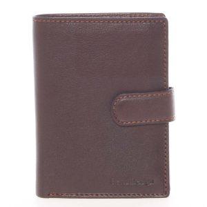 Hnědá pánská kožená peněženka – SendiDesign Sampson hnědá