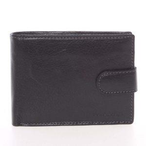 Pánská černá kožená peněženka se zápinkou – SendiDesign Prejem černá