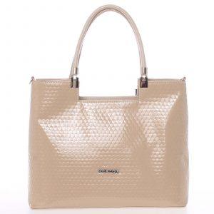 Větší dámská originální kabelka přes rameno béžová – Annie Claire 6081 béžová