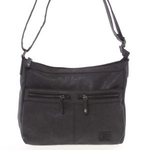 Střední měkká dámská crossbody kabelka černá – Enrico Benetti Enjoy černá