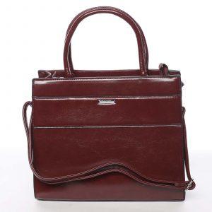 Dámská tmavě červená atraktivní kabelka – Silvia Rosa Selena červená