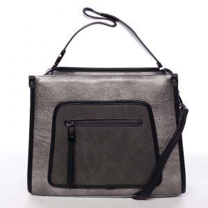 Unikátní elegantní střední kabelka pro dámy stříbrná – MARIA C Urania stříbrná