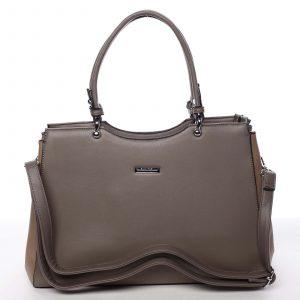 Střední elegantní dámská kabelka do ruky hnědá – Silvia Rosa Nevah hnědá