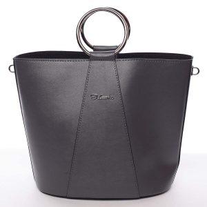 Nadčasová dámská kabelka s organizérem šedá – Delami Karsyn šedá