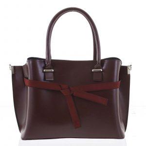 Trendy dámská kabelka do ruky vínová – Delami Giovanna vínová