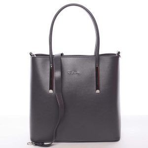 Moderní dámská kabelka do ruky šedá – Delami Bethney šedá