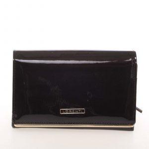 Luxusní kožená lakovaná černá peněženka – Lorenti 4112SH černá