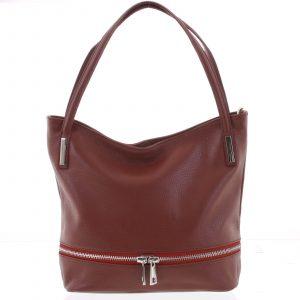 Dámská stylová kožená kabelka přes rameno vínová – ItalY Acness vínová