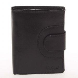 Elegantní pánská kožená černá peněženka – Delami Norm černá