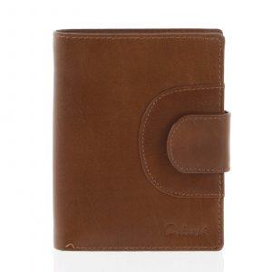 Elegantní pánská kožená světle hnědá peněženka – Delami Norm hnědá