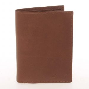 Módní pánská kožená koňaková peněženka – Delami Marquis koňak