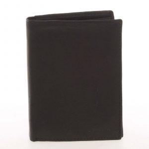 Pánská kožená černá peněženka – Delami Therron černá