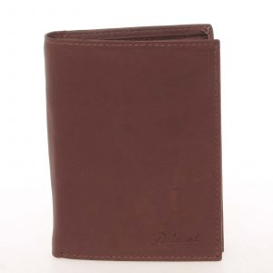 Pánská kožená hnědá peněženka – Delami Therron hnědá