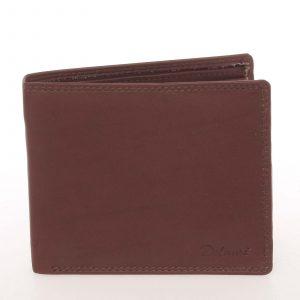 Elegantní pánská kožená hnědá peněženka – Delami Kerman hnědá