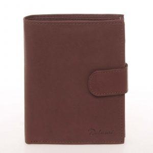 Módní pánská kožená hnědá peněženka – Delami Chappel hnědá