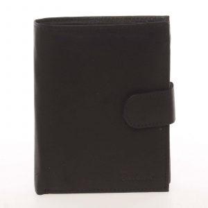 Módní pánská kožená černá peněženka – Delami Chappel černá