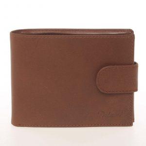 Pánská kožená světle hnědá peněženka – Delami Silvain hnědá