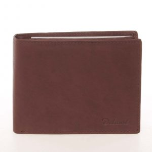 Kvalitní pánská kožená hnědá peněženka – Delami Archard hnědá
