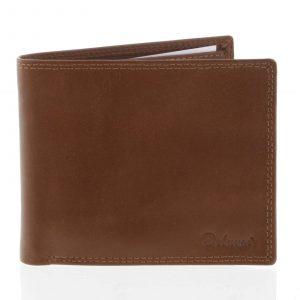 Kožená elegantní světle hnědá peněženka pro muže – Delami Gaillard hnědá