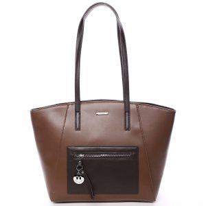 Moderní dámská kabelka přes rameno hnědá – David Jones Adria hnědá