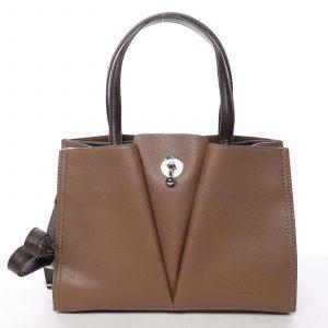 Luxusní dámská hnědá kabelka do ruky – David Jones Aedon hnědá