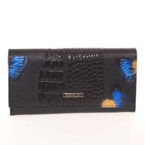 Dámská polokožená modrá peněženka se vzorem – Cavaldi PN22BFC modrá