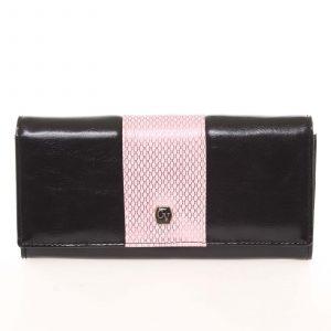 Módní dámská polokožená růžová peněženka – Cavaldi PX244 růžová