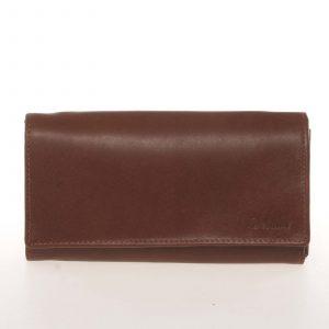 Dámská kožená hnědá peněženka – Delami CHAGL04104 koňak